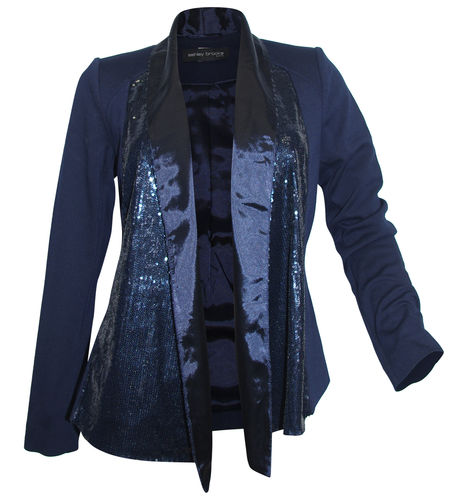 new arrival 43ff4 90bf6 Ashley Brooke sequins blazer night-blue