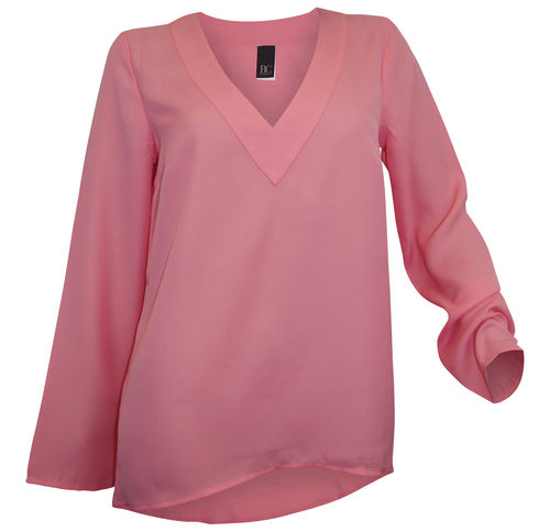 Tunic long blouse light pink