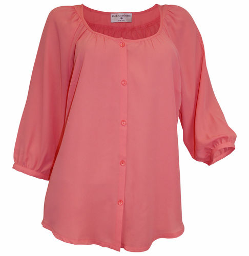 Oversized Bluse lachs