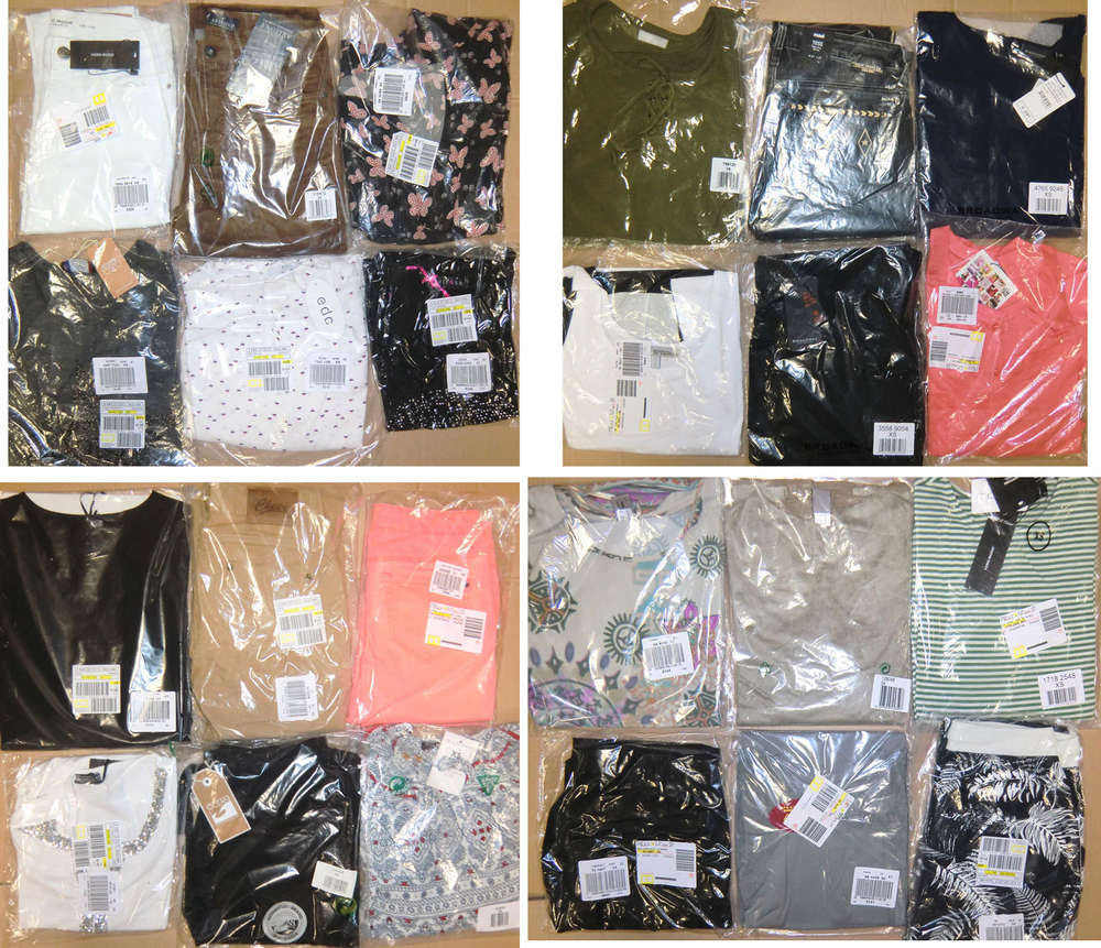 32d32d0e6a085e Damen Mix Paket 20 Artikel Marken Kleidung Restposten 1. Wahl OVP ...