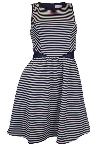 Mini dress summer dress blue white