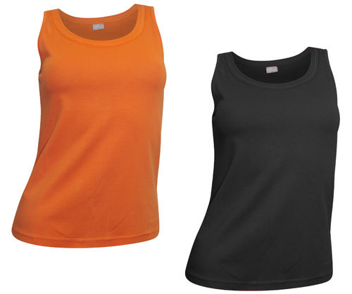 2er Pack Top schwarz orange