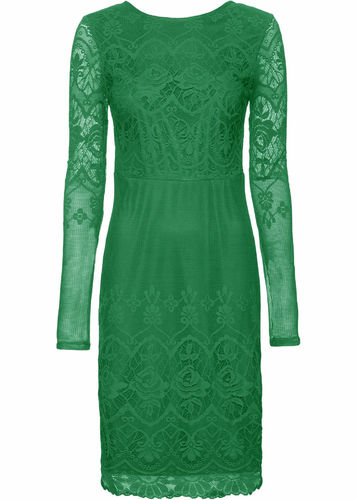 Lace dress with low back cut green