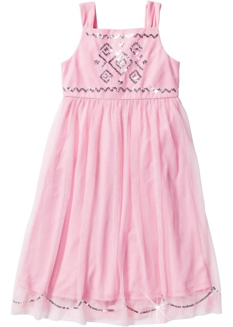Mädchen Tüllkleid mit Pailletten rosa - Tie Break GmbH