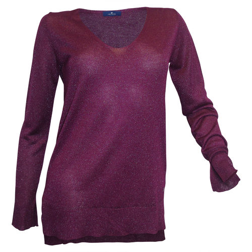 Tom Tailor Longpullover Glitzer pink berry