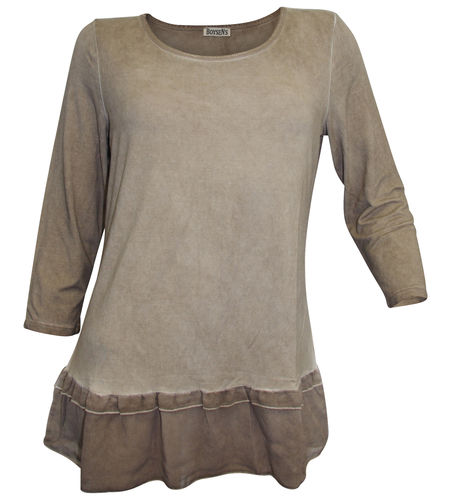 Boysen's 2in1 Shirt taupe washed