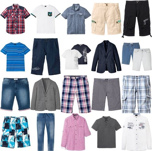Men mix clothing package new shirt jacket t-shirt bermudas pants 1st choice remaining stock