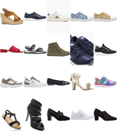 Shoes brands mix sneakers ballerinas casual shoes sandals 1st choice new remaining stock