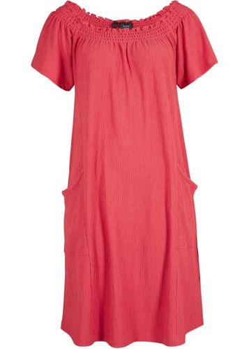 Jersey dress with pockets Mini dress red